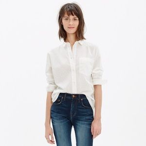 Madewell boyfriend button down shirt M